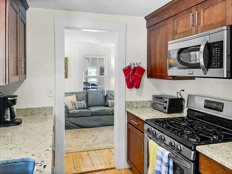 Kitchen view to living area - Heaven's Hideaway! - 379 Oak Street Harwich Cape Cod New England Vacation Rentals
