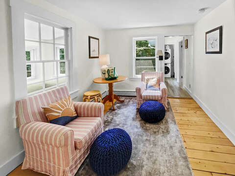 Living Area with Hallway to Laundry - Heaven's Hideaway! - 379 Oak Street Harwich Cape Cod New England Vacation Rentals
