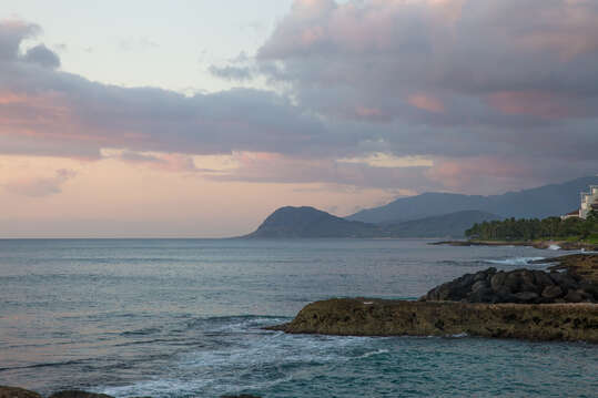 Dusk Photo of the Lagoon Near Our Ko Olina Kai Golf Estate.