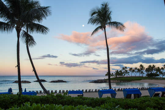 Dusk Picture of the Lagoon by the Ko Olina Kai Golf Estate