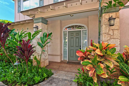 Beautiful Entry Way to Ko Olina Kai Golf Estate.