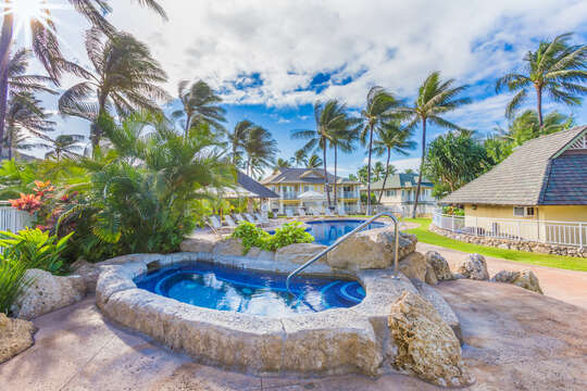 Enjoy Relaxing at the Hot Tub Near Our Ko Olina Kai Golf Estate.