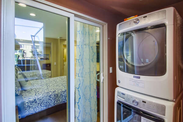 Washer and Dryer in the laundry room.