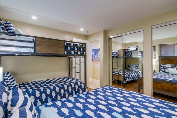 Guest Bedroom of this rental with  Queen Bed & Twin/Twin Bunk