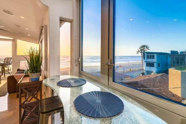 Ocean Views from Breakfast Bar