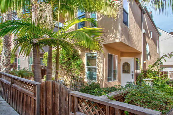 Exterior Front Entry of this Vacation Rental in San Diego CA