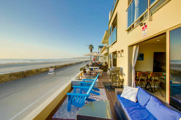 The back patio of this San Diego vacation home rental.