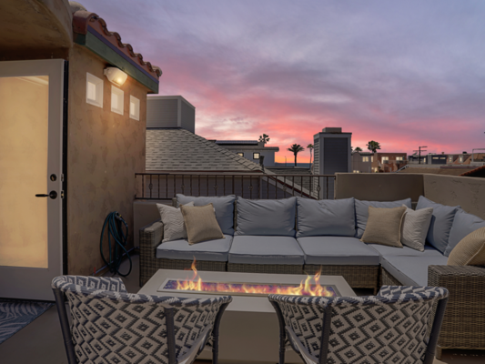 Roof Deck at Sunset