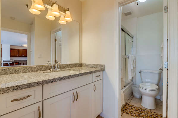 Bathroom #2- Shared tub/shower combo