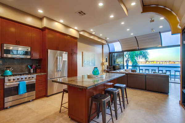 Kitchen in Mission Bay Vacation Rental.