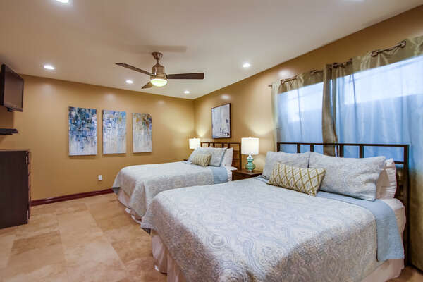 Guest Room Features Two Large Beds.