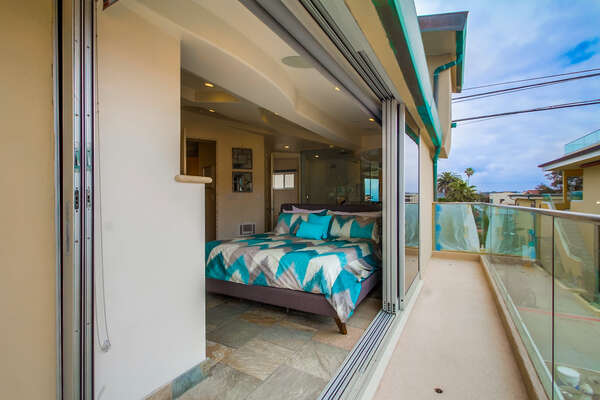 Master Bedroom Has Direct Access to Outdoor Balcony.