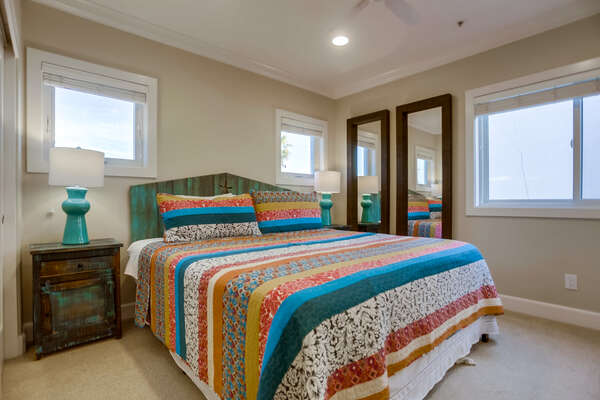 Guest Room with Queen Bed and two Nightstands