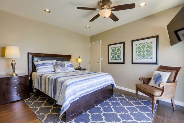 Guest Room on the Third Floor with queen bed.