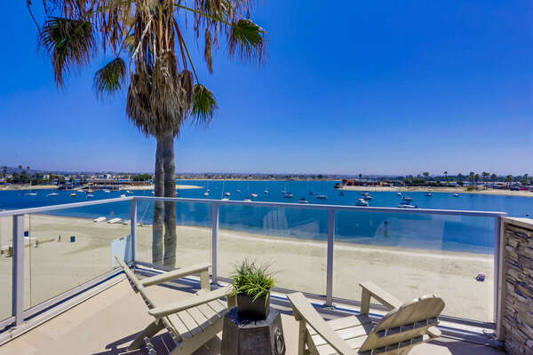 Roof Deck of this Mission Beach Rental House.