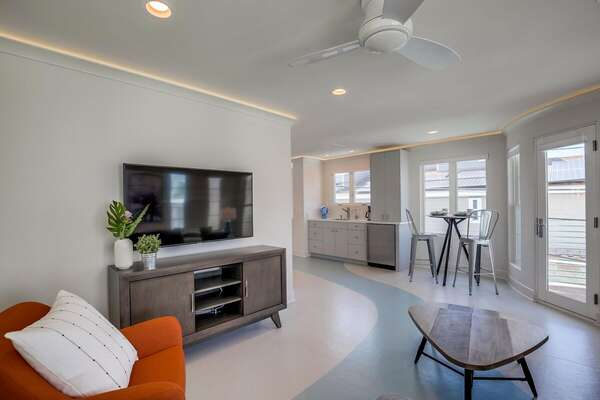 Second Floor Living Area Includes Smart TV.
