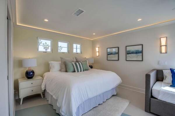 Bedroom Includes King Bed and Daybed.