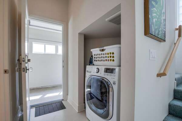 In-unit Combination Washer and Dryer.