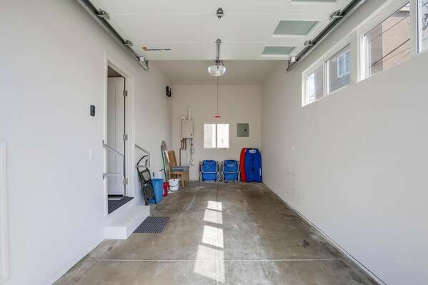 Guests Have Access to 1-Car Garage, 6'10H x 7'6W x 16'D