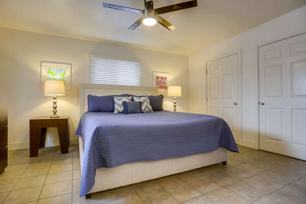 Bedroom with King Bed and Ceiling Fan