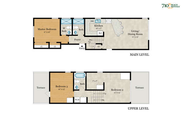 Floor Plan of this San Diego vacation home rental.