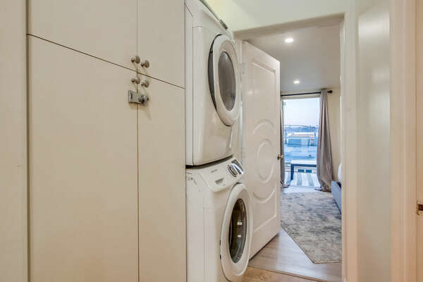 Private washer/dryer for guest use