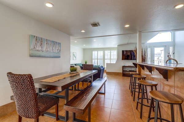 Dining Table and Breakfast Bar, Second Floor