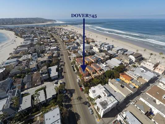 Dover745 sits just south of Belmont Park in South Mission Beach.