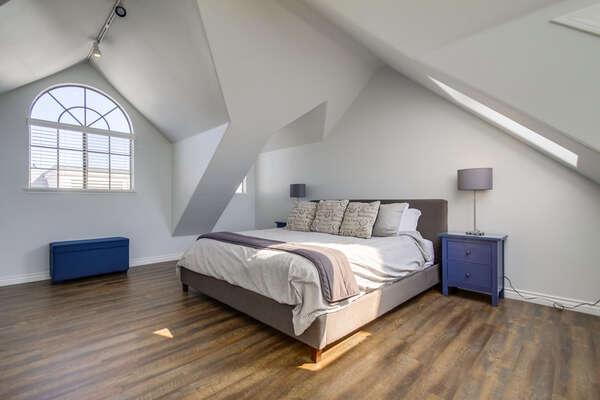 Master bedroom, top floor