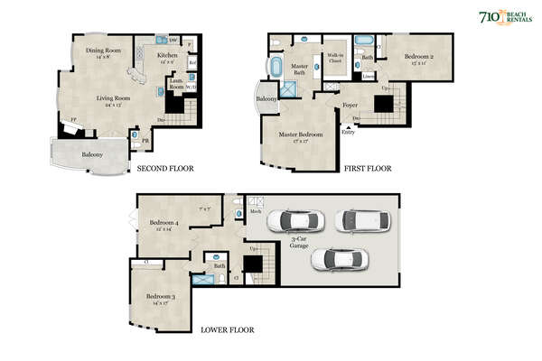 Floor Plan of our Vacation Home in San Diego.