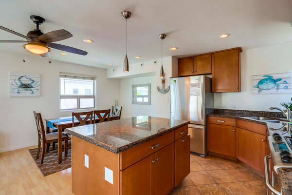 Fully equipped Kitchen open to Dining Area
