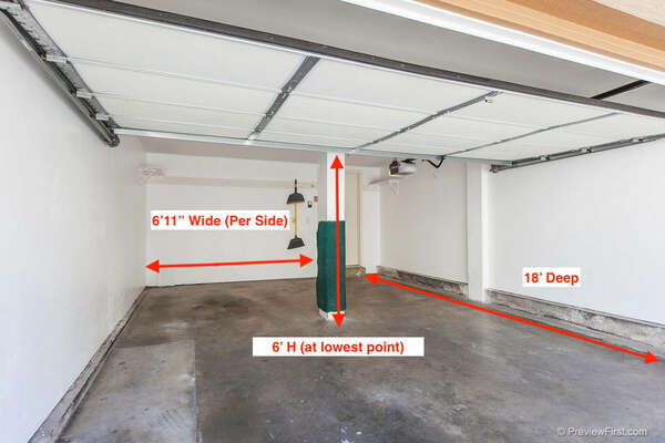 Image with Measurements of the Garage 1.