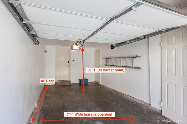 Image with Measurements of the Garage 2.