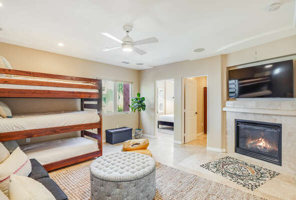 Living & Common Area w/ Triple Twin Bunks - 2nd Floor East