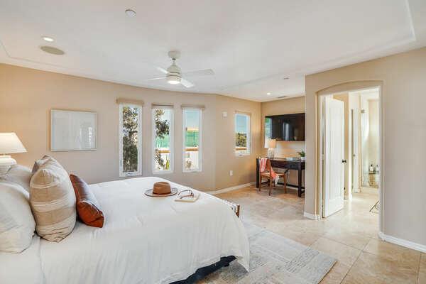 Large Master Bedroom w/ En-Suite & WFH Space