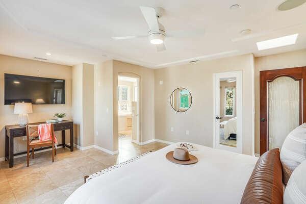 Master Bedroom w/ Cal King, En-Suite, & WFH Space - 3rd Floor East