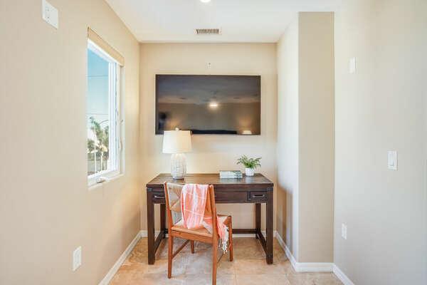 Master Bedroom w/ WFH Space - 3rd Floor East