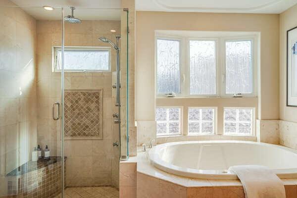 Master Bedroom En-Suite w/ Shower & Bathtub - 2nd Floor East