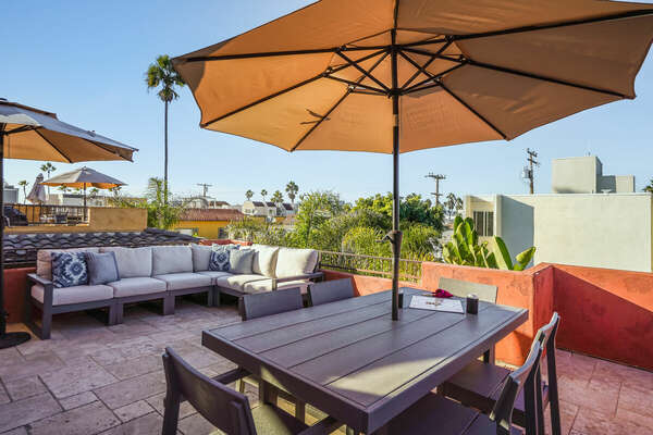 Incredible Roof Deck with Comfortable Seating, Dining, and Lounging - Perfect for Entertaining!