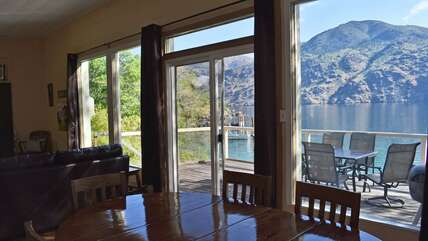 View of Lake Chelan from inside the cabin