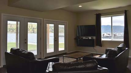 View of Lake Chelan from downstairs family room