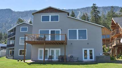 View of house from Lake Chelan