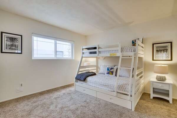 First Floor Guest Bedroom #1 with bunk bed.