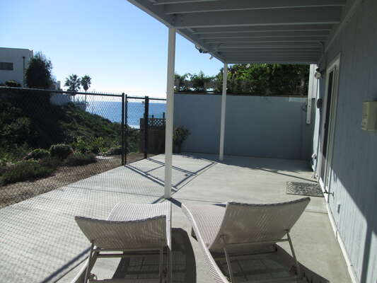 Lower Patio with walkway directly to the beach