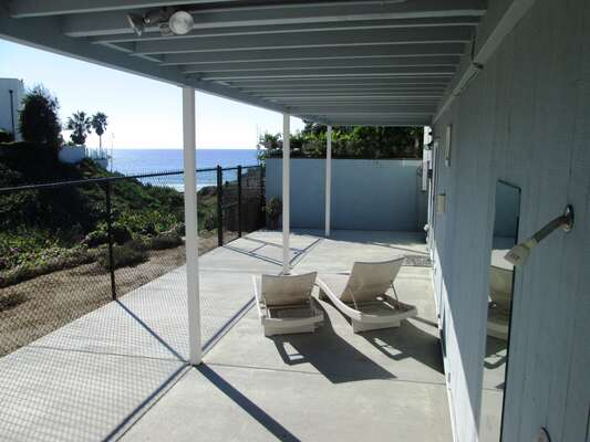 Lower Patio with walkway directly to the beach.