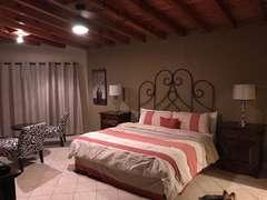 Master bedroom at night.