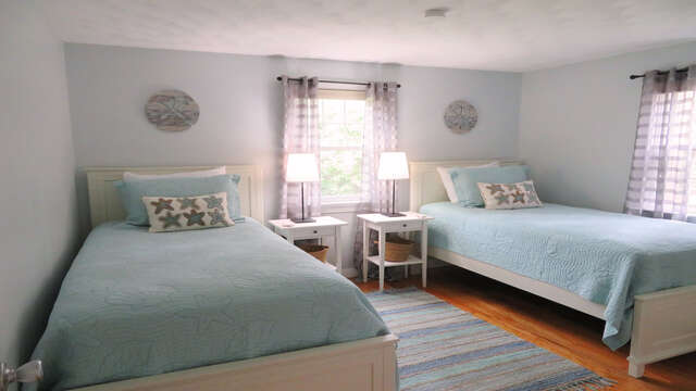 Bedroom #2 with 2 twins - 13 Carol Lane West Harwich Cape Cod New England Vacation Rentals