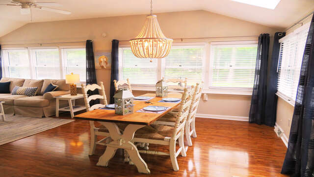 You will find a nice open floor plan at this vacation home. - 13 Carol Lane West Harwich Cape Cod New England Vacation Rentals
