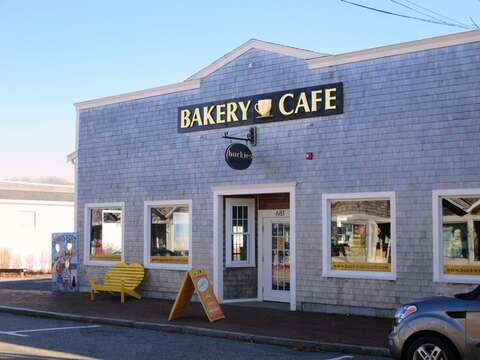 Head around the corner to downtown Dennisport where you will find Buckies Bakery and Cafe! Just a short walk away - .3 tenths of a mile! - DennisPort Cape Cod New England Vacation Rentals