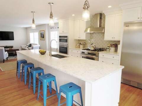 Breakfast bar  seats 5! 388 Main St-Chatham Cape Cod New England Vacation Rentals